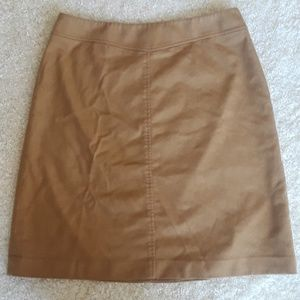 Lands End Brown Wool 16 Petite Skirt